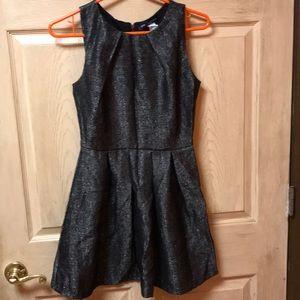 One clothing zip back dress gold n black